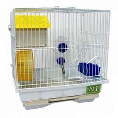 N1 клетка для хомяков с домиком и колесом 25*14*20см