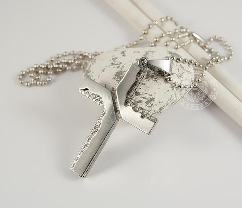 PM237 Мужская подвеска крест из ювелирной стали