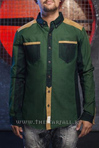 Рубашка дизайнерская Starfall NY зеленая