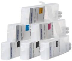 Комплект дозаправляемых картриджей для Canon iPF500, iPF510, iPF600, iPF605, iPF610, iPF700, iPF710, iPF720, iPF750. 6 штук