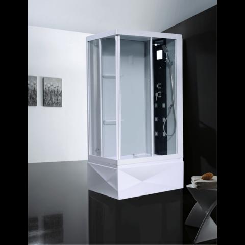 Душевая кабина Orans OLS-SR86152L/R 80x110см. профиль белый, стекло прозрачное, универсальная