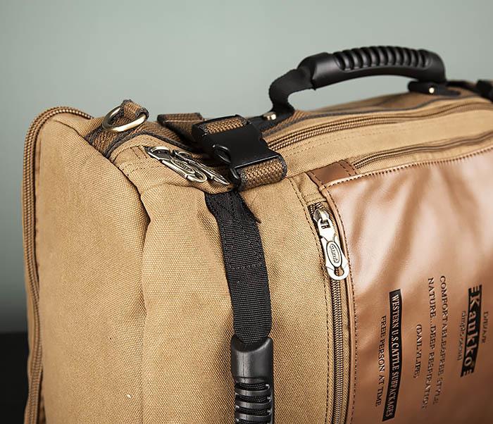 BAG365-2 Рюкзак-трансформер из плотного текстиля фото 04