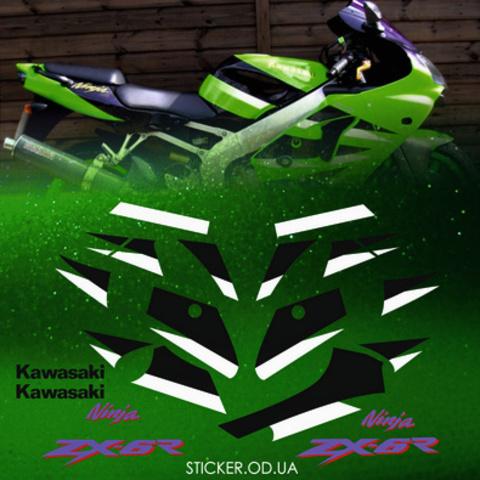 Набор виниловых наклеек на мотоцикл KAWASAKI ZX-6R 2001