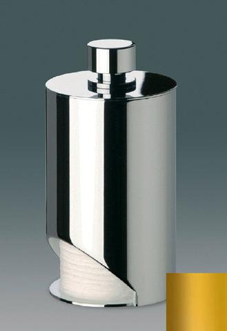 Емкость для ватных дисков Windisch Cylinder Plain золото