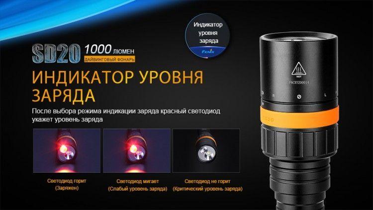 Подводный фонарь Fenix SD20 Cree XM-L2 U2 недорого