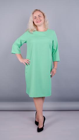 Вірта. Елегантна сукня великих розмірів. М'ята.