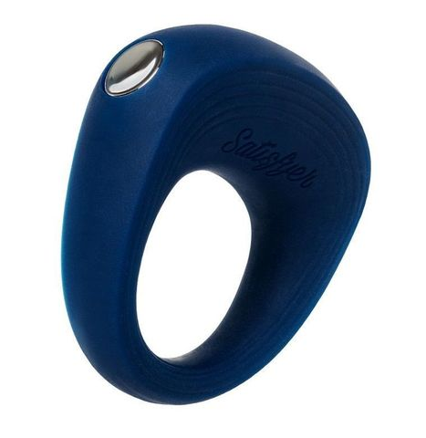 Синее эрекционное кольцо на пенис Satisfyer Ring 2