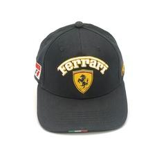 Кепка с вышитым логотипом Феррари (Кепка Ferrari) черная