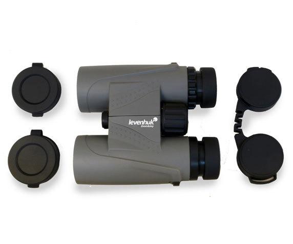 Бинокль Levenhuk Karma Plus 10x32: защитные крышки окуляров и объективов
