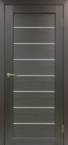 Дверь Optima Porte Парма 408.12, стекло Мателюкс, цвет венге, остекленная