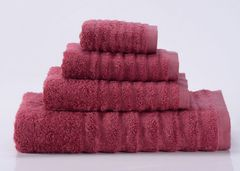Wellness-6 малиновое махровое  полотенце Valtery