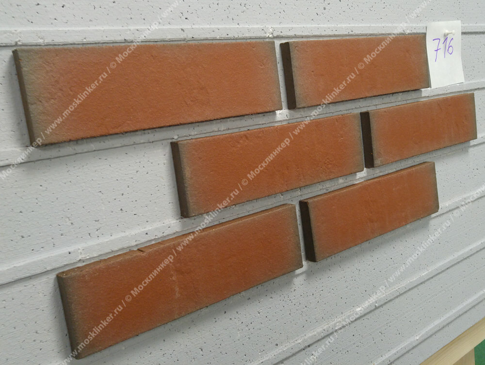 Облицовочная клинкерная плитка Feldhaus Klinker, Accudo, R716NF14, поверхность под шагрень, ardor