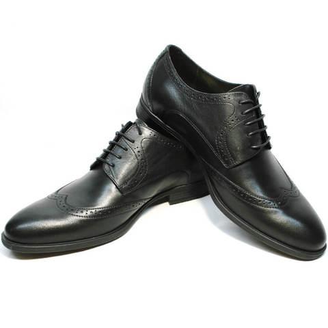 Кожаные туфли мужские классика дерби броги. Деловые туфли мужские инспектор Ikos Classic Black.