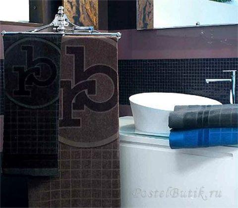 Полотенце 100х150 RoccoBarocco Gazzella черное