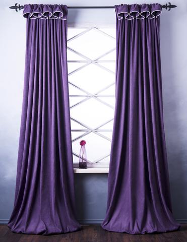 Комплект штор софт Спринг фиолетовый