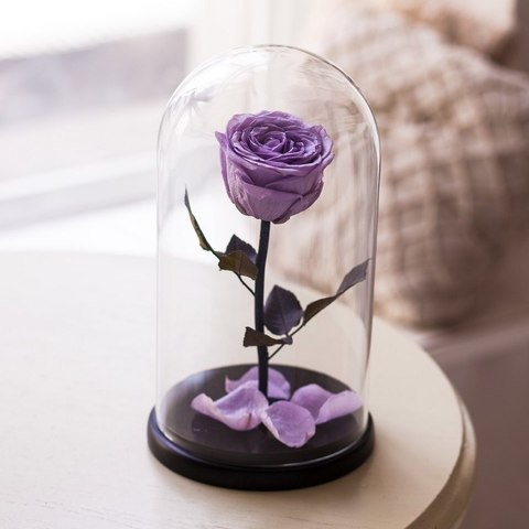 Роза в колбе Premium Фиолетовая