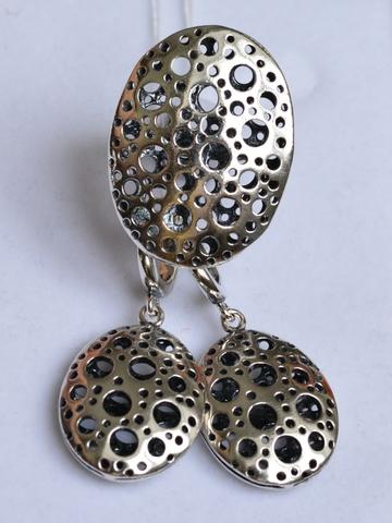 Рокфор (кольцо + серьги из серебра)