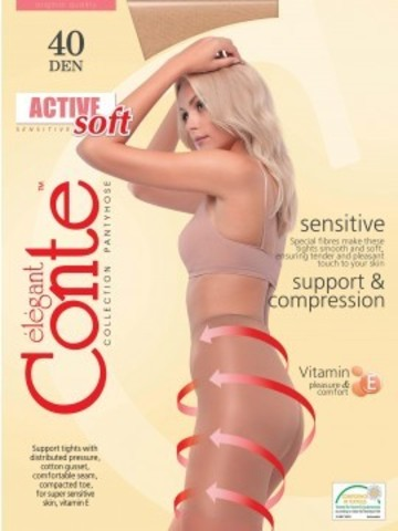 Conte Active Soft Колготки женские 40d, p.5 bronz