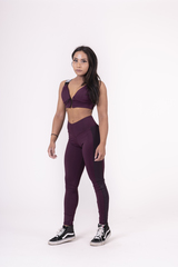 Женские лосины Nebbia Flash-Mesh leggings 663 burgundy