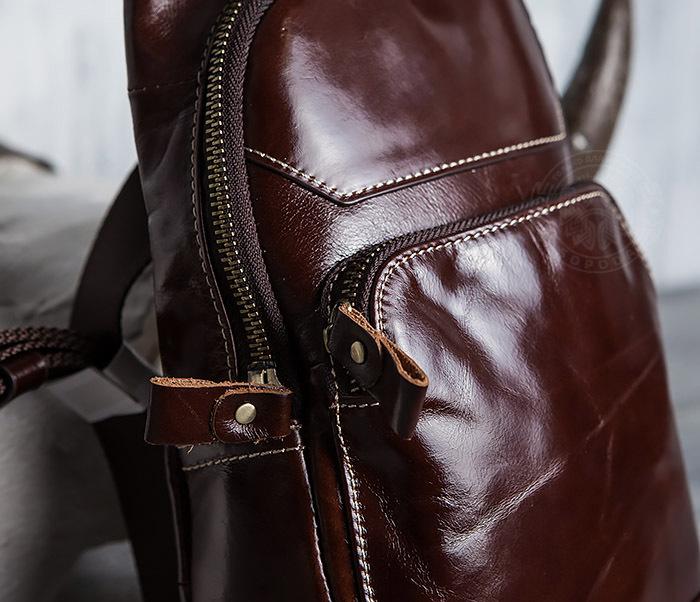 BAG421-2 Мужская сумка из шикарной кожи с одной лямкой фото 03