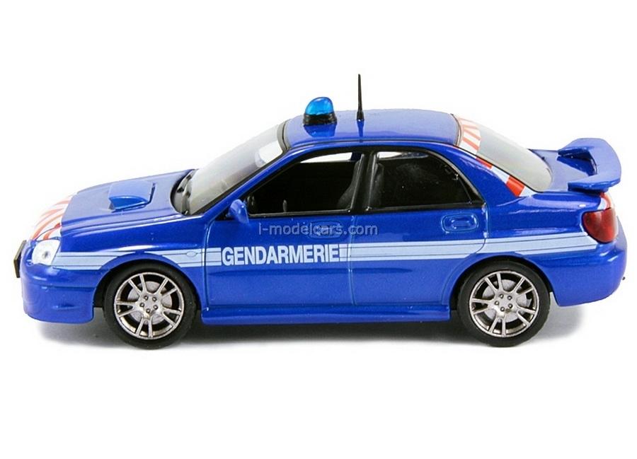 Subaru Impreza Police France 1:43 DeAgostini World's Police Car #4