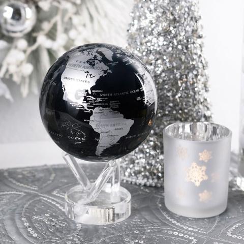 Глобус MOVA GLOBE Политическая карта мира 16,5 см синий/серебро