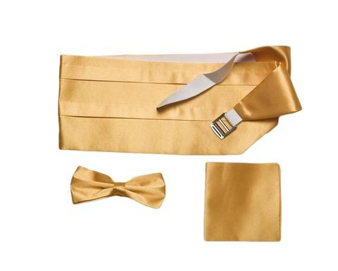 Камербанд (кушак, пояс) La madre желтый для смокинга+бабочка+платок