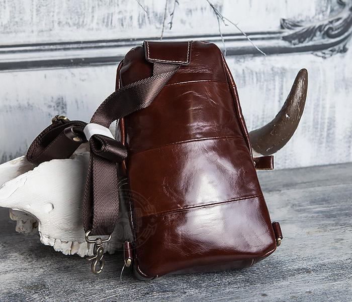 BAG421-2 Мужская сумка из шикарной кожи с одной лямкой фото 04
