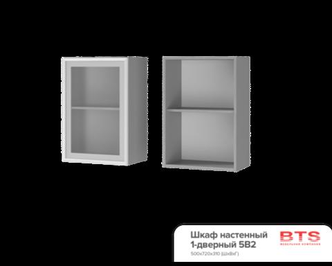 Шкаф настенный 1-дверный со стеклом (500*720*310) 5В2