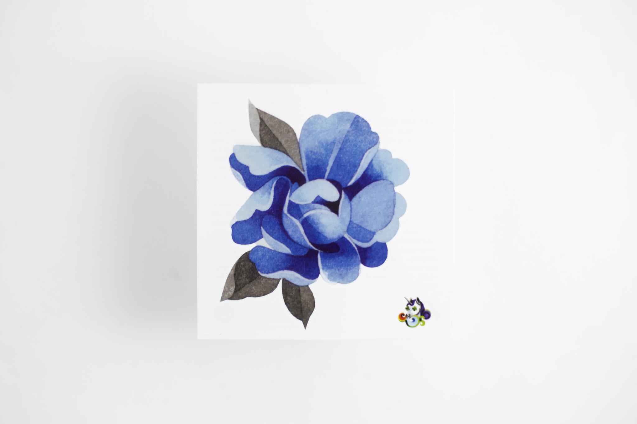 Переводная татуировка Blue Peony