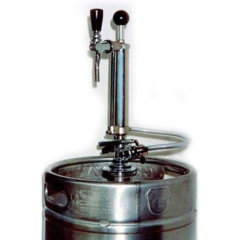 Помпа ручная для пива с краном для розлива пива из кег
