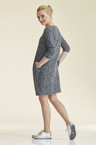 Платье 08689 серый меланж
