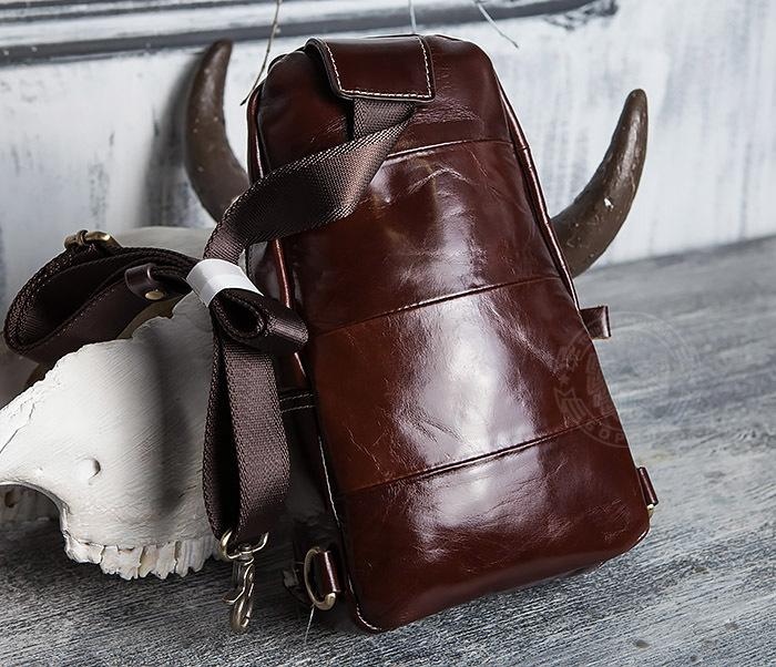 BAG421-2 Мужская сумка из шикарной кожи с одной лямкой фото 05
