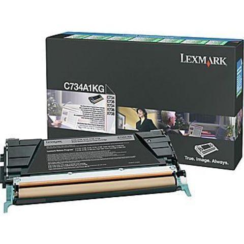Картридж для принтеров Lexmark c73x/x73x черный (black). Ресурс 8000 стр (C734A2KG)