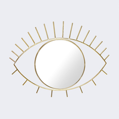 Зеркало настенное Cyclops большое золотое Doiy