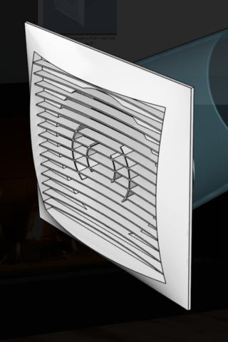 Решетка вентиляционная 170х170 с фланцем D125  (1717РС12,5Ф)