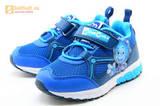 Светящиеся кроссовки для мальчиков Фиксики на липучках, цвет синий, мигает картинка сбоку. Изображение 6 из 15.