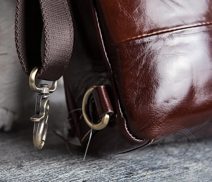 BAG421-2 Мужская сумка из шикарной кожи с одной лямкой фото 06