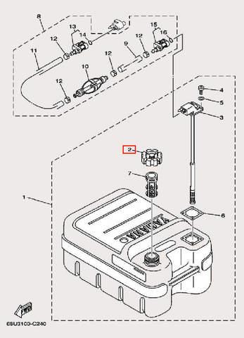 Крышка бака для лодочного мотора F9,9 Sea-PRO (27-2)