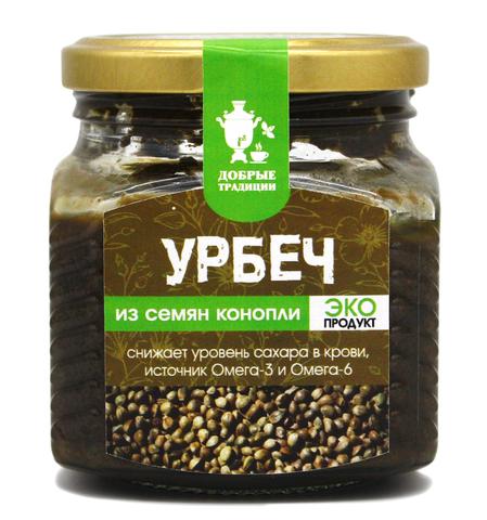 Урбеч из семян конопли, GoodTraditions, 230 г