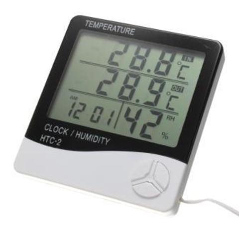 Термометр электронный настенный/настольный HTC-2