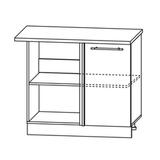 Кухня Страйп Шкаф нижний угловой проходящий ШНУП 1000