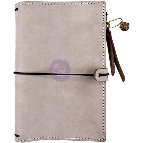 Органайзер дорожный -Prima Traveler's Journal Leather Essential -Warm Stone- 12,5 х18,5 см. Натуральная кожа.