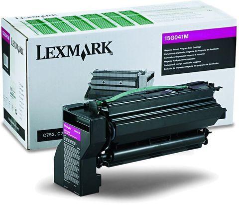 Картридж для принтеров Lexmark C752, C760, C762 пурпурный (magenta). Ресурс 6000 стр (15G041M)