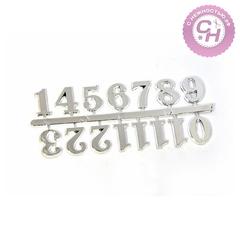 Набор декора Цифры малые, пластик, металлик, 15 мм.