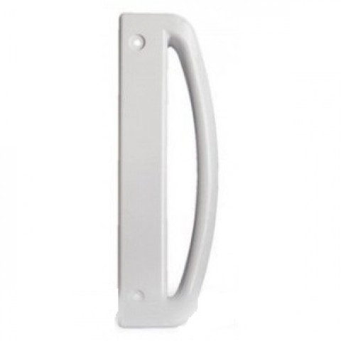 Ручка двери холодильника Позис  Deko  (Vega) вертикальная белая   245 мм