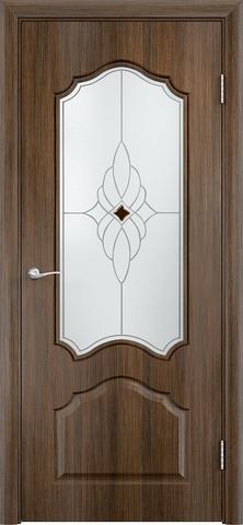 Дверь Верда Ирида, стекло Сатинато Ромб, цвет венге мелинга, остекленная