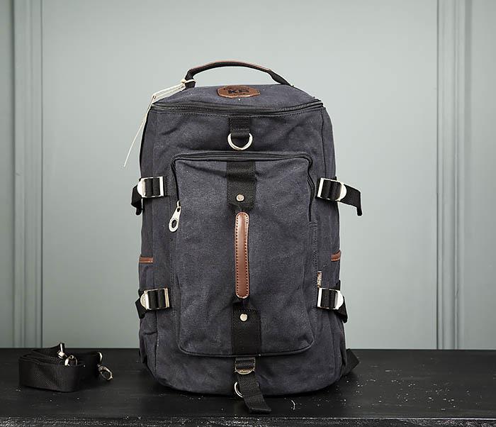 BAG368-1 Городская тканевая сумка рюкзак с ремнем на плечо фото 02
