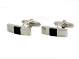 Запонки Lanvin Silver & Onix LV 9741/0