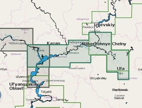 Карта:  Река Белая и нижняя Кама, Navionics+ Small 5G633S2
